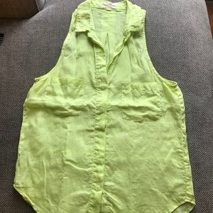 ⬇️$20! Cloth&Stone bright yellow tank size medium